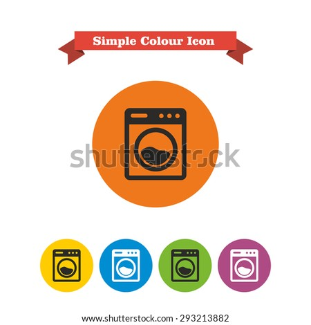 Illustration with tips on saving water consumption by man in a house - Set Laundry Icons Clean Dirty Shirts Stock Vector