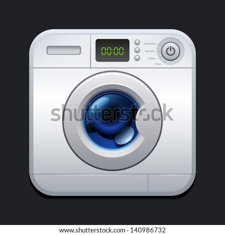Washing machine. Laundry icon. 10eps - stock vector