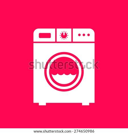 Washing machine sign - stock vector
