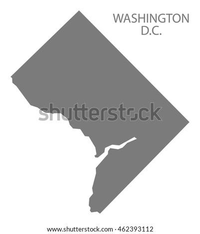 washington dc map stock images royalty free images vectors