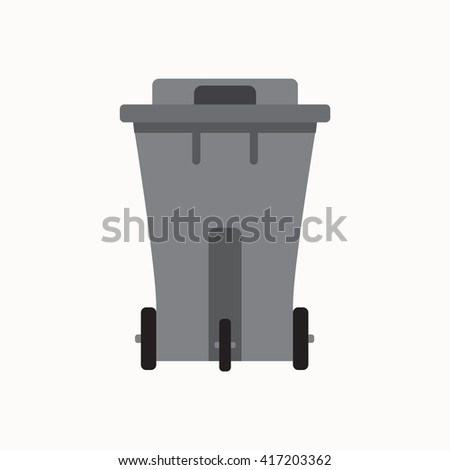 Waste sorting garbage bin isolated vector. Waste management and recycle concept with waste bin isolated. Separation of waste trash bin isolated. Sorting recycling waste can. Gray garbage can vector. - stock vector