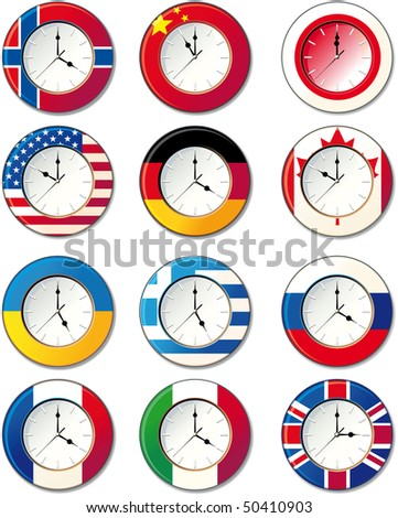 Watch, at which the flags of some countries