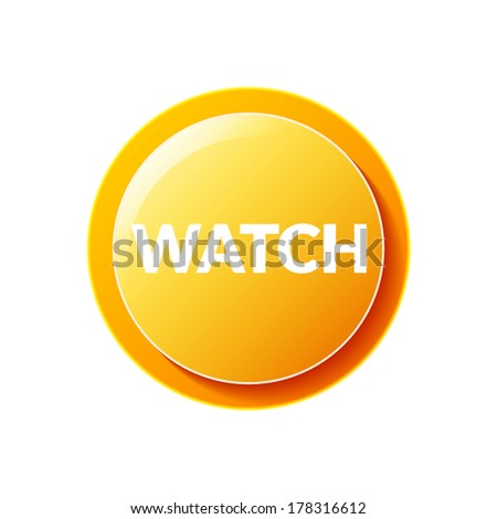 Watch icon text - stock vector