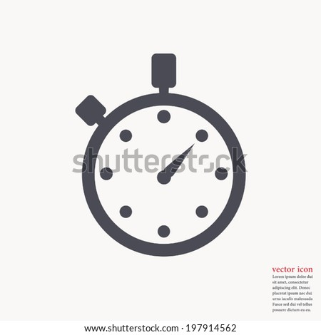 Watch icon ,Vector illustration  - stock vector