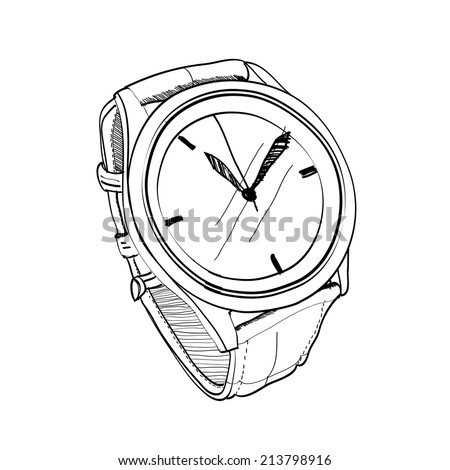 watch sketch vector  - stock vector