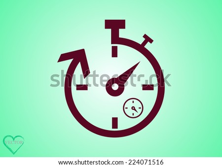 watch stopwatch - stock vector