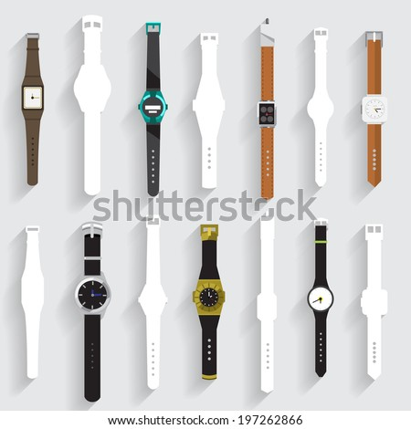 Watch vector set - stock vector