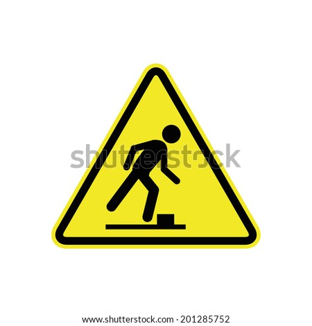 watch your step sign - stock vector