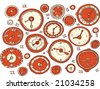 Watches and clocks - stock vector