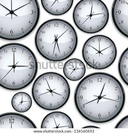 Watches seamless background, vector. - stock vector