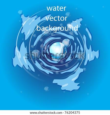 water - stock vector