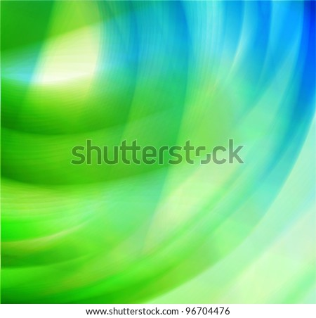 water and nature, ecological concept abstract wavy background - stock vector