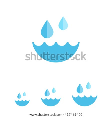 Water and water drops - stock vector