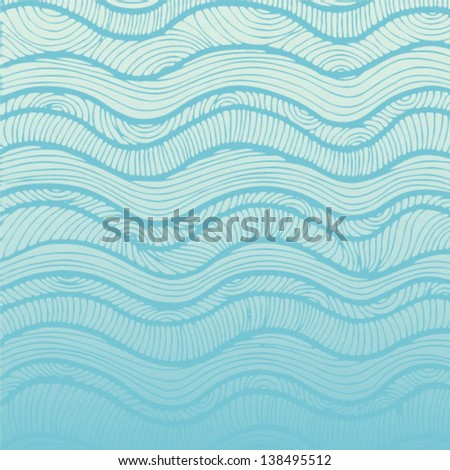 Water background. Pattern with waves - stock vector