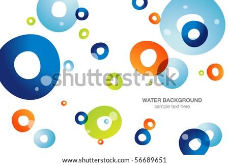 Water background, vector - stock vector