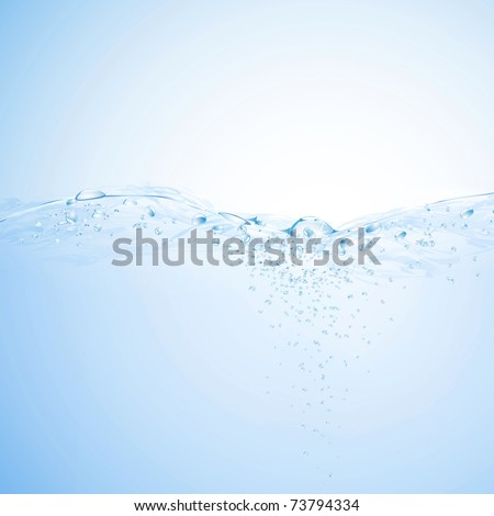 Water background. Vector eps10 illustration - stock vector