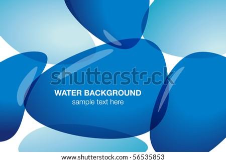 Water background, vector illustration - stock vector