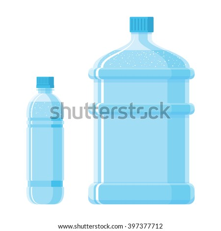 water, bottles, vector, container, receptacle - stock vector
