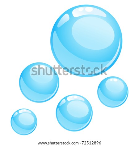 water bubbles illustration - stock vector