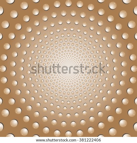 Water bubbles. Water drops on glass. Brown  Light Abstract background geometrical ornament pattern with water drops. Vector illustration. - stock vector
