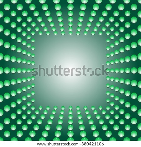 Water bubbles. Water drops on glass. Green Light Abstract  Seamless  background geometrical ornament pattern with water drops. For greeting card, presentation, card, flyer.  Vector illustration. - stock vector