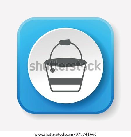 water bucket icon - stock vector