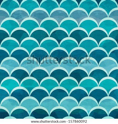 water circle seamless pattern - stock vector