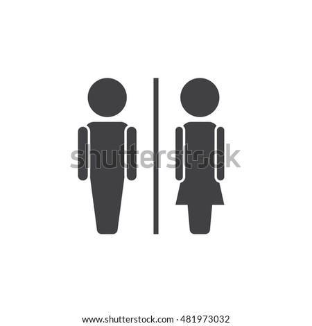 water closet icon vector  toilet solid logo illustration  wc pictogram  isolated on white. Toilets Icon Flat Disign Stock Vector 544246150   Shutterstock