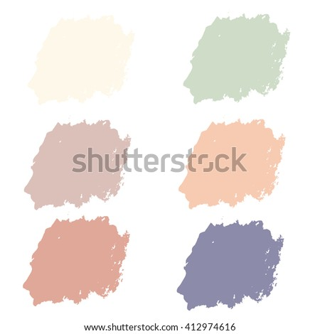 Water color 6 color pastel palette set  for use in background or backdrop for use in many work such as sale banner or element abstract grunge.brush color.brush vector.brush black.brush art.brush  - stock vector