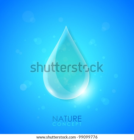 Water concept background - stock vector