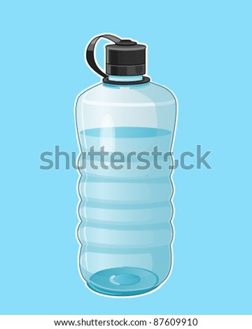 Water container - stock vector