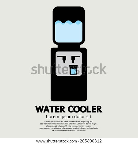 Water Cooler Graphic Vector Illustration - stock vector