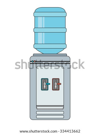 Water cooler. Vector flat illustration - stock vector