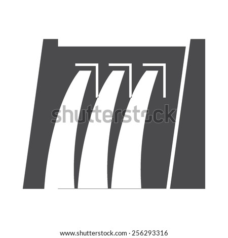 Water Dam vector image to be used in web applications, mobile applications and print media. - stock vector