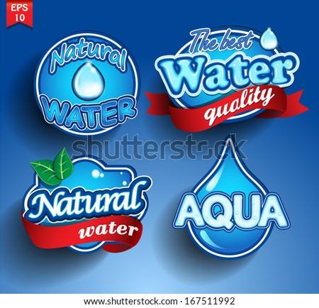 Water design elements. Water icon - stock vector