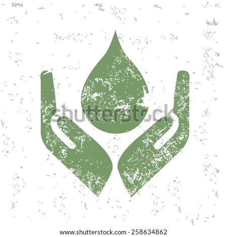Water design on old paper,grunge vector - stock vector