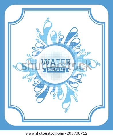 water design over blue  background vector illustration - stock vector