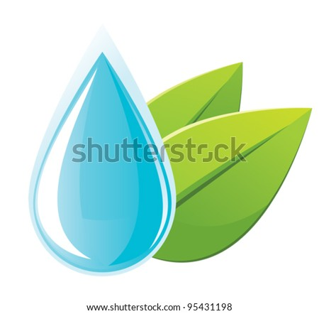 Water drop - stock vector