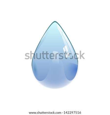 Water drop, eps10 vector - stock vector