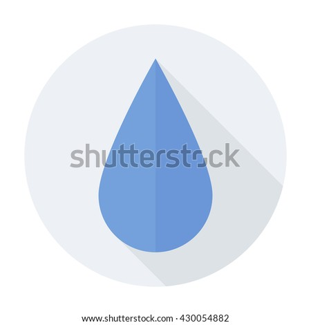 Water Drop Icon Flat Rain Liquid Stock Photo Photo Vector