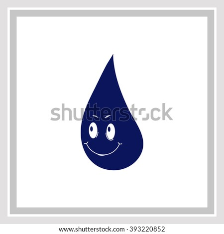 Water drop Icon / Water drop Icon Vector / Water drop Icon Object / Water drop Icon Picture / Water drop Icon Image / Water drop Icon JPG / Water drop Icon JPEG / Water drop Icon EPS - stock vector