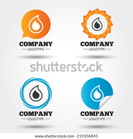Water Drop Sign Icon Tear Symbol Stock Photo Photo Vector