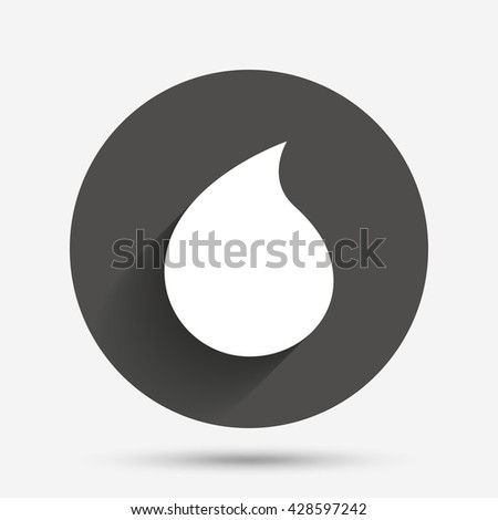 Water drop sign icon. Tear symbol. Design of flat water drop symbol. Water drop web icon. Water drop picture. Water drop sign for app interface. Water drop graphic object. Water drop simple icon. - stock vector