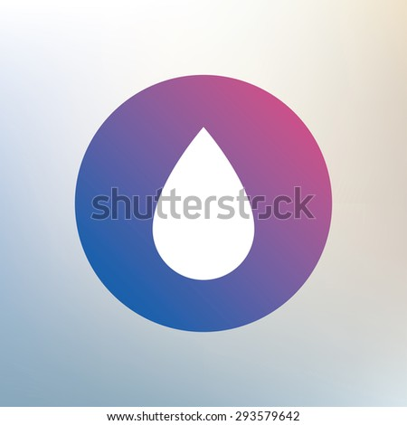 Water drop sign icon. Tear symbol. Icon on blurred background. Vector - stock vector