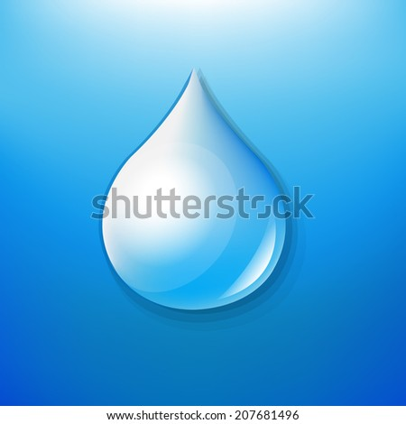 Water Drop Symbol, With Gradient Mesh, Vector Illustration