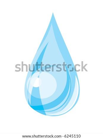 Water drop  (vector) - stock vector