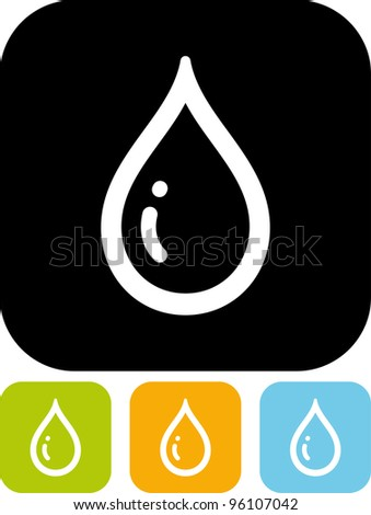 Water drop - Vector icon isolated - stock vector
