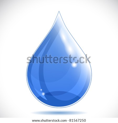 Water drop - vector illustration. - stock vector