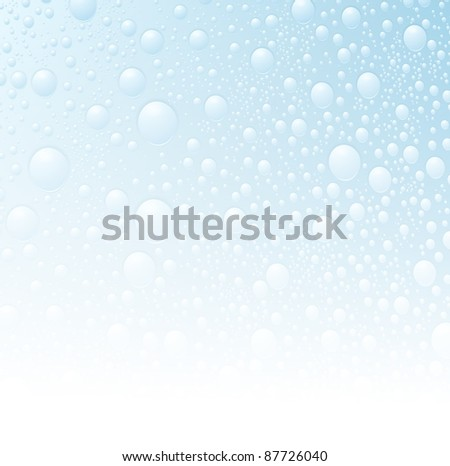 water drop wet background - stock vector