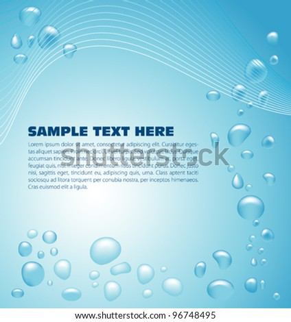 Water drops background - stock vector